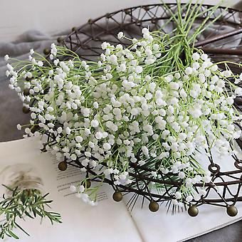 8Pcs artificial fake flowers bouquet gypsophila bulk flower in white dt6244