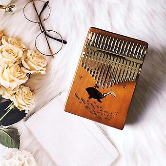 Kalimba 17 keys thumb piano wood mahogany acacia wood body musical instruments