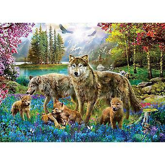 Eurographics Wolf Lake Fantasy Jigsaw Puzzle (500 XL Large Pieces)