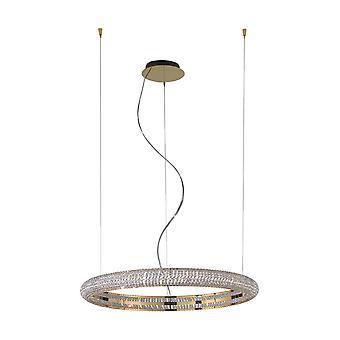 Kolarz NOBILE - Integrerad LED-designer Crystal Cylindrical Hänge LjusGuld