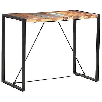 vidaXLバーテーブル140 x 70 x 110 cm リサイクルされた無垢材