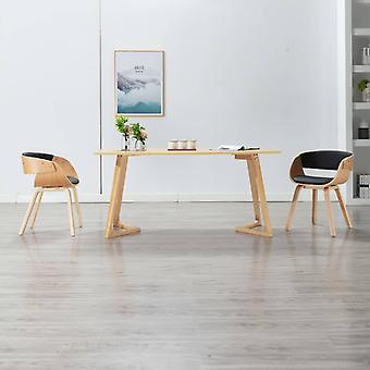 vidaXL dining chair black bentwood and imitation leather