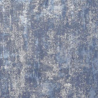 Arthouse Stone Texturas Navy Silver Wallpaper 902108
