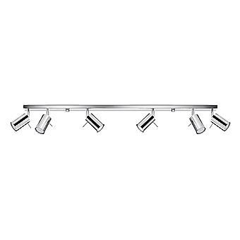 Spotlight Bars Flush 6 Ljus Chrome GU10