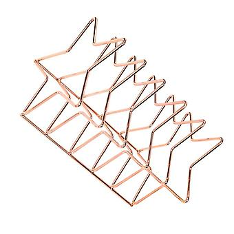 1st Star Design Desktop Bookshelf Iron Art Book Rack Kreativt bokställ Enkelt bookend för