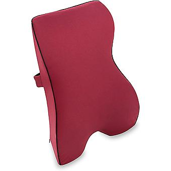 Rückenkissen mit Memory-Funktion – ergonomisches Lendenkissen I Lordosenstütze Rückenstütze