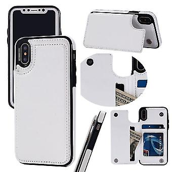 Huawei P30 Pro Multi-Function Leather Case Cover - Blanc