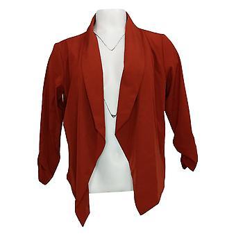 Brittany Humble Women's Jacket Reg Soft Draped Open Front Orange  720061
