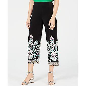 I.n.c Women's Printed Cropped Wide-Leg Pants Bl Budah Paisly XS