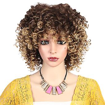 Fashion Women Curly Wavy Wigs Natural Synthetic Hair Cosplay Party Costume