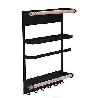 Kitchen Rack Fridge Magnetic Organizer  Design Paper Towel Holder, Holders & Racks
