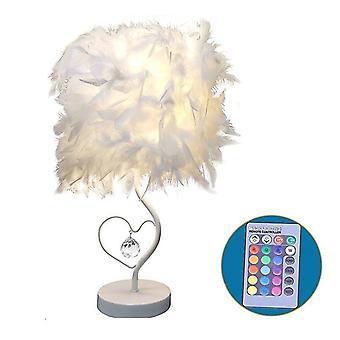 Fjer Krystal bordlampe-kunst Dekoration Ligh