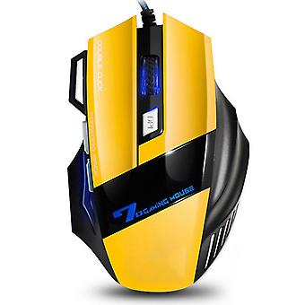 4 Adjustable Dpi And 7 Buttons Led Optical Usb Wired Gaming Mouse