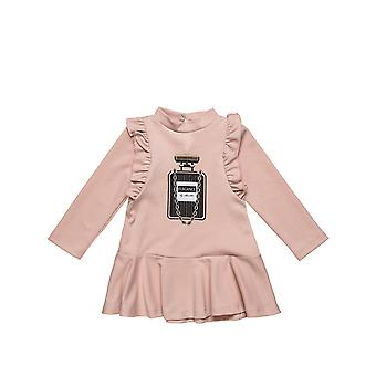 Alouette Girls' Dress With Print And Rolls