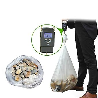 50Pcs disposable thickened storage bags clear recycling bin liners bags plastic refuse sacks kitchen organizer bag