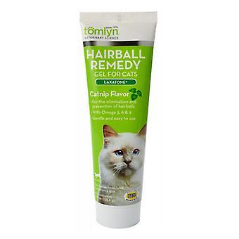 Tomlyn Laxatone Hairball Remedy Gel for Cats - Catnip Flavor - 4.25 oz