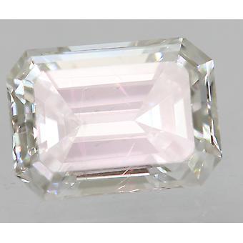 Certified 0.28 Carat D VS1 Emerald Enhanced Natural Loose Diamond 4.5x3.29mm 2EX