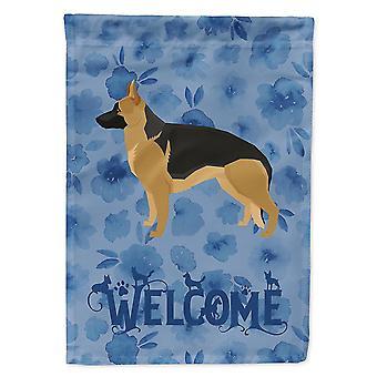 Flags windsocks carolines treasures ck6244chf german shepherd welcome flag canvas house size