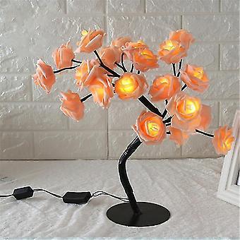 Lampada da tavolo a forma di rosa fiore albero di rose luce decorativa per soggiorno camera da letto dfds889(2)