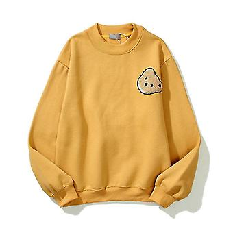 Palm Angels Guillotine Bear Round Neck Loose Men And Women Long Sleeves