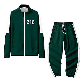 New 218 Squid Game Costume Role-playing Jacket Sports Suit For Men And Women Universal Autumn And Winter Sports Suit (adult Style, Green)
