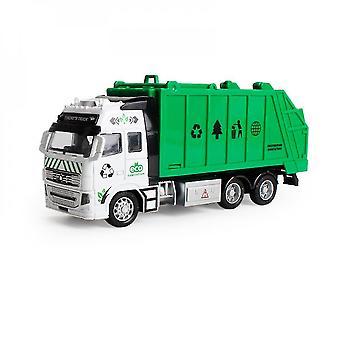 Die-turnat metal realist camion de gunoi jucărie