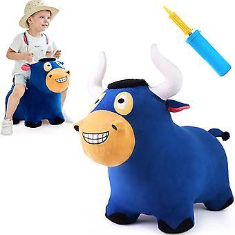 Детская плюшевая прыгающая лошадь Детская надувная митья Подарок на день рождения 18 24 месяца 2 3 4 года