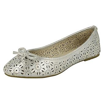 Dames plek op Slip op Ballerina schoenen F80037