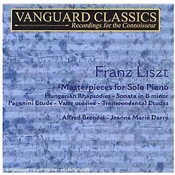 F. Liszt - Liszt: Masterpieces for Solo Piano, Vol. 1 [CD] USA import