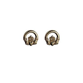 9ct Gold 9mm Claddagh stud Earrings