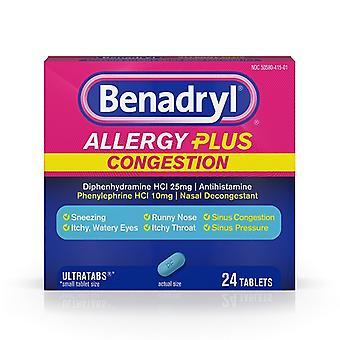 Benadryl Alergia mais congestionamento Ultratabs comprimidos