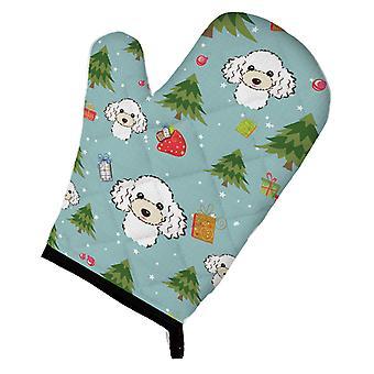 Carolines Treasures  BB5046OVMT Christmas White Poodle Oven Mitt