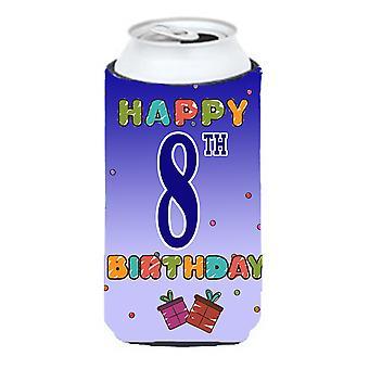 Happy 8th Birthday Tall Boy Beverage Insulator Hugger