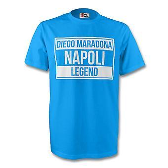 Diego Maradona Napoli lenda Tee (céu azul)