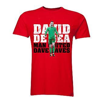 David De Gea Man United Goalkeeper T-Shirt (Red)