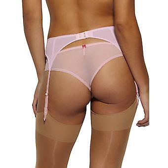 Gossard 14402 女子色衝突ラズベリー キス ピンク花刺繍ガーター ベルト ガーター ベルト