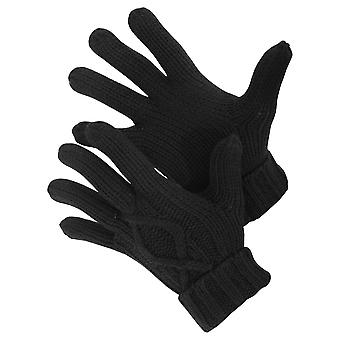 Mens Cable Knit Winter Gloves