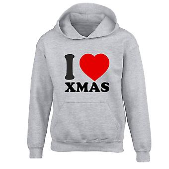 I Love Xmas Christmas Kids Hoodie 10 Colours (S-XL) by swagwear