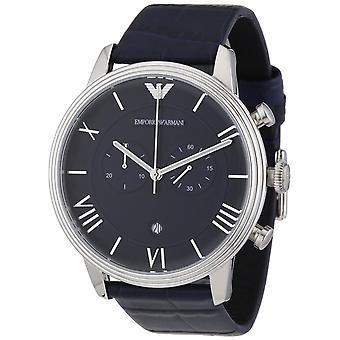 Emporio Armani Miesten Chronograph Watch sininen hihna sininen soittaa AR1652