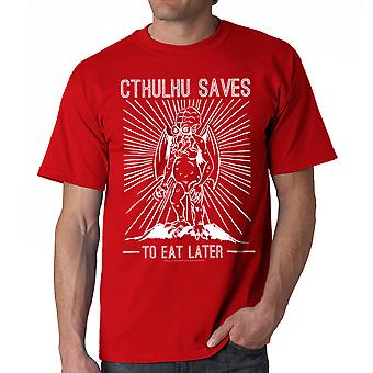 Warpo Cthulhu Saves Men's Red T-shirt