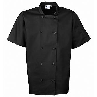 Premier Mens Short Sleeved Polycotton Workwear Uniform Chef Jacket