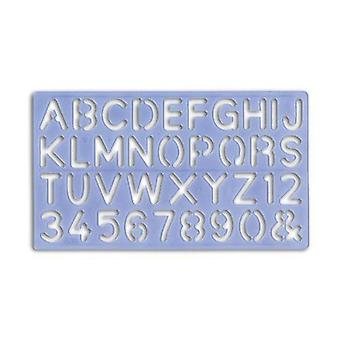 Uppercase & Lowercase Letters & Numbers Stencils 5mm to 30mm