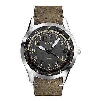 watch reloj de pulsera cuero Oliver s. hombres SO-3575-LC