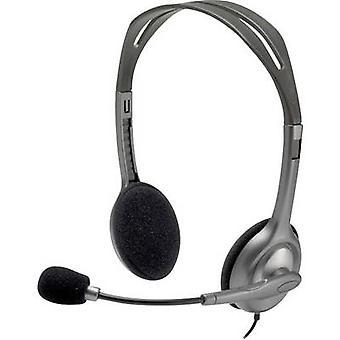 Logitech H111 PC headset 3.5 mm jack Stereo, Corded On-ear Grey