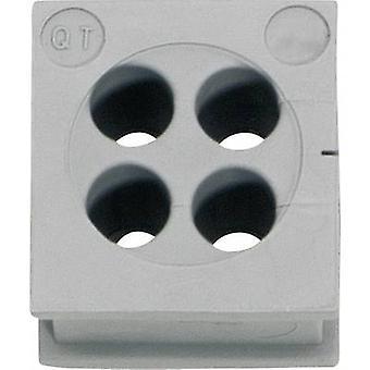 Tulejki przewodów Icotek QT 4/3 Ø Terminal (maks.) 3 mm elastomeru szary 1 szt.