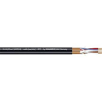 Sommer Cable 200-0551 Microphone cable 2 x 2 x 0.22 mm² Black Sold per metre