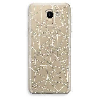 Samsung Galaxy J6 (2018) läpinäkyvä kotelo (pehmeä) - geometriset linjat valkoinen