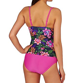 Zoggs Womens Tropical Garden Tankini Swimming Swimsuit Two Piece Costume - 8UK