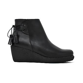 Smooth ankle boots Liberitae wedge leather black 21803323-01