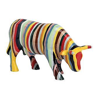 Cow Parade rayas (medio de cerámica)